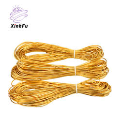 Gold shiny metallic cord decoration braid string
