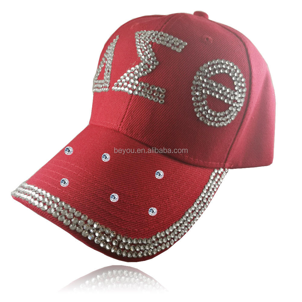 Delta Sorority Bling Bông Hat Cap