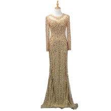 LSYY019-1 hot selling golden sequin party prom dress vestidos de fiesta evening dress