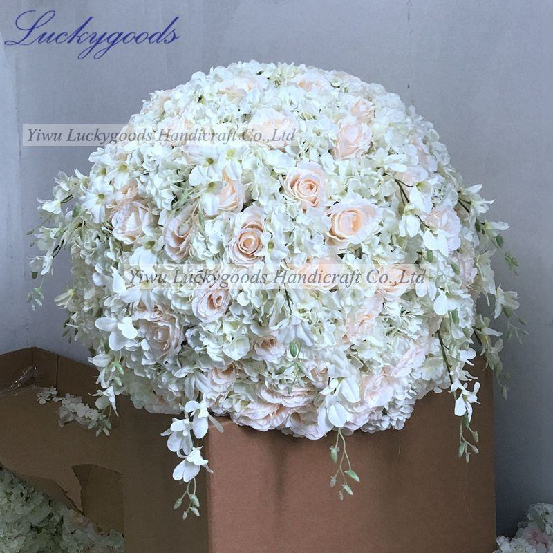 LFB557-80cm wedding decoration big plastic flower ball centerpiece wholesale