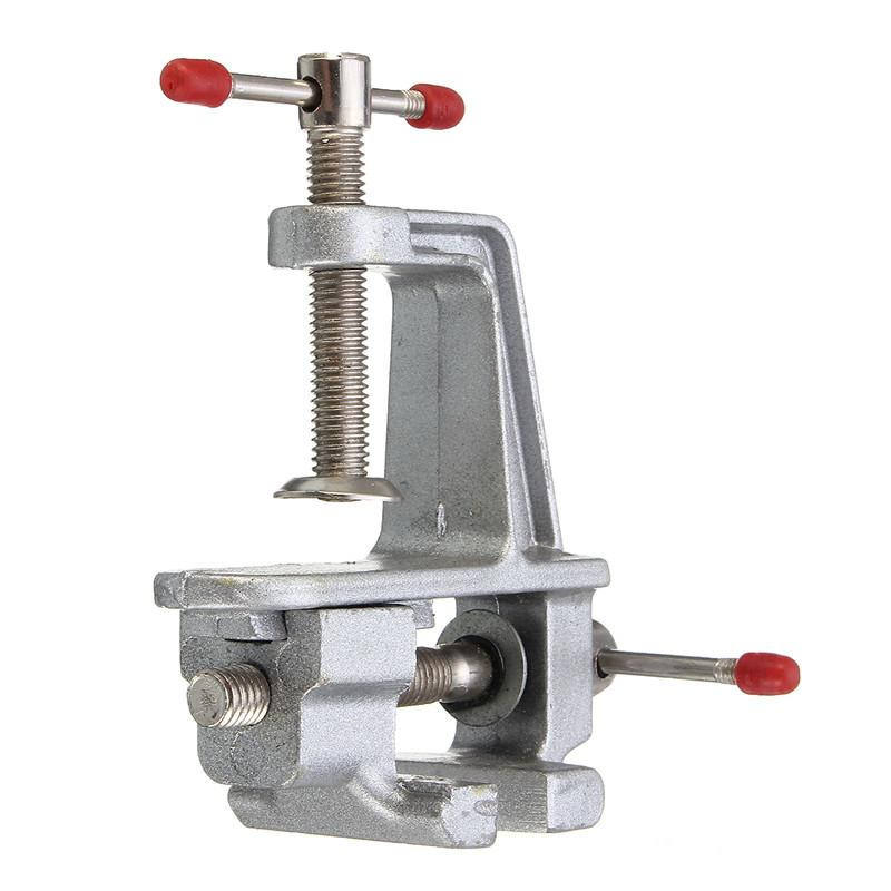 multi-fuctional aluminum mini small vise clamp portable table bench tool vise for home DIY craft woodwork