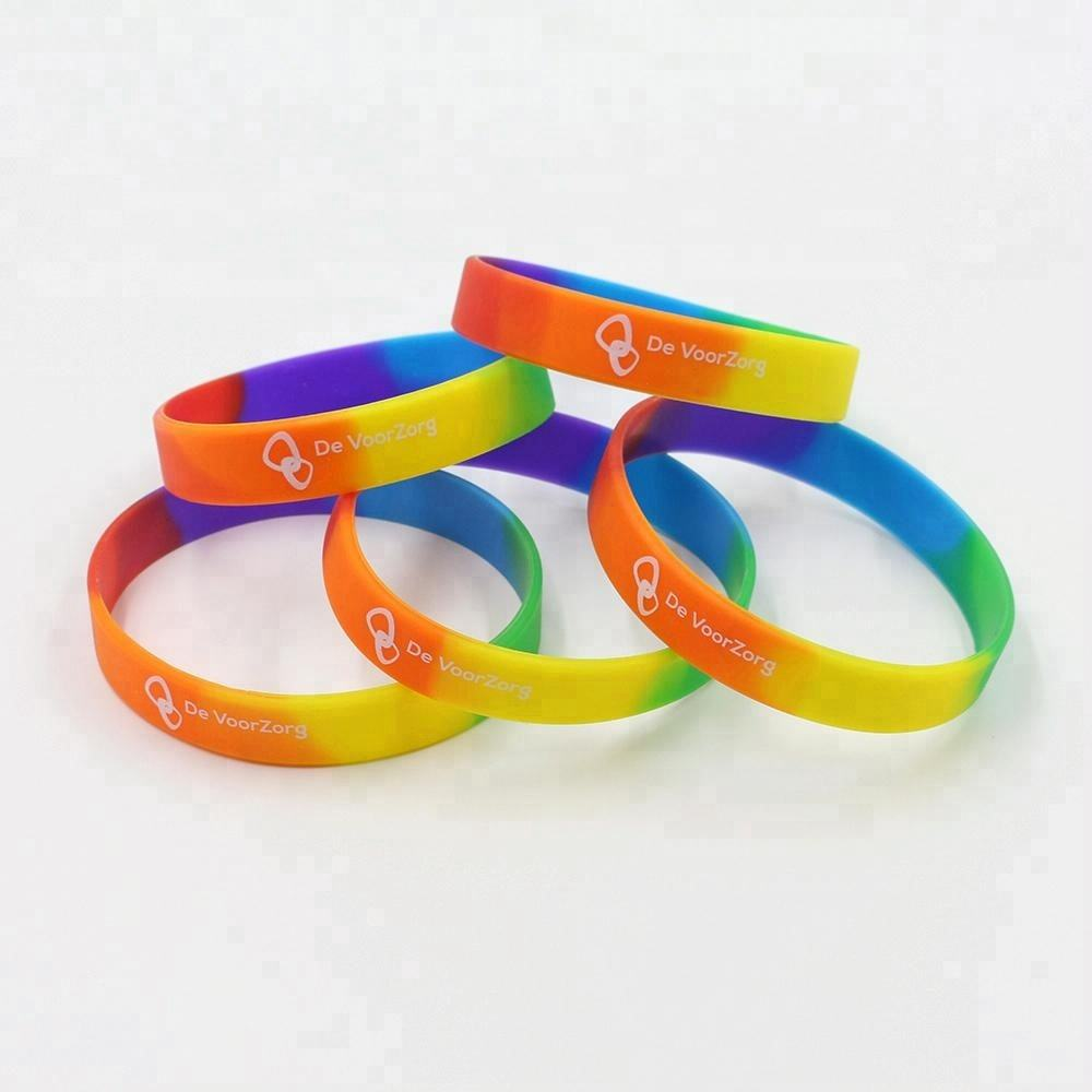 custom bracelet Natural eco-friendly durable rubber wristbands silicon wrist bands custom silicon rubber bands