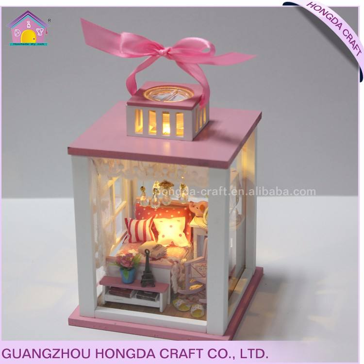Commercio all'ingrosso con la luce e mobili FAI DA TE casa delle bambole in miniatura vietnam giocattoli di legno