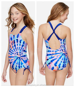 Benutzerdefinierte digitale printed one piece kinder bikini bademode