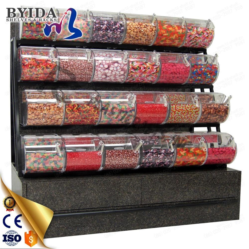 Große candy mutter display rack mit acryl bins