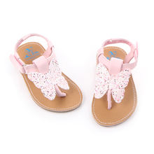 New arrival butterfly design baby girl sandals slippers