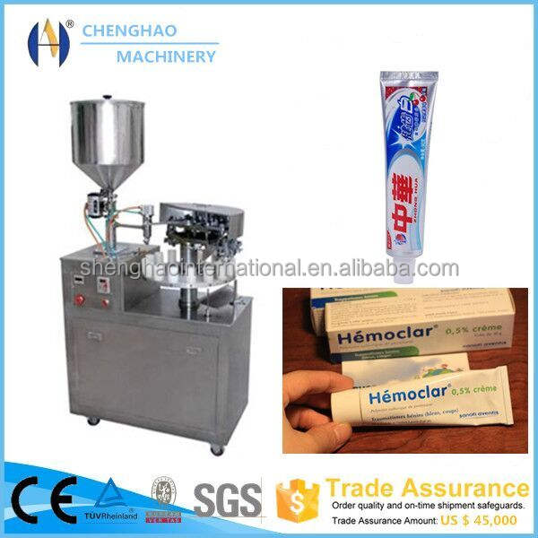 Advanced Chinese manufacturer aluminum ointment tube filling machine