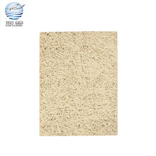 Original color magnesite wood fiber sound absorbing wall panel for conference room acoustic