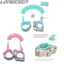 1.5M 2M 2.5M new design transparent Toddler walking leash harness baby kids safety anti lost wrist link