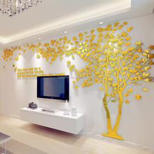 3D Mirror Tree Acrylic wall stickers creative lovers tree wall decals TV background decoration wall stickers home decal