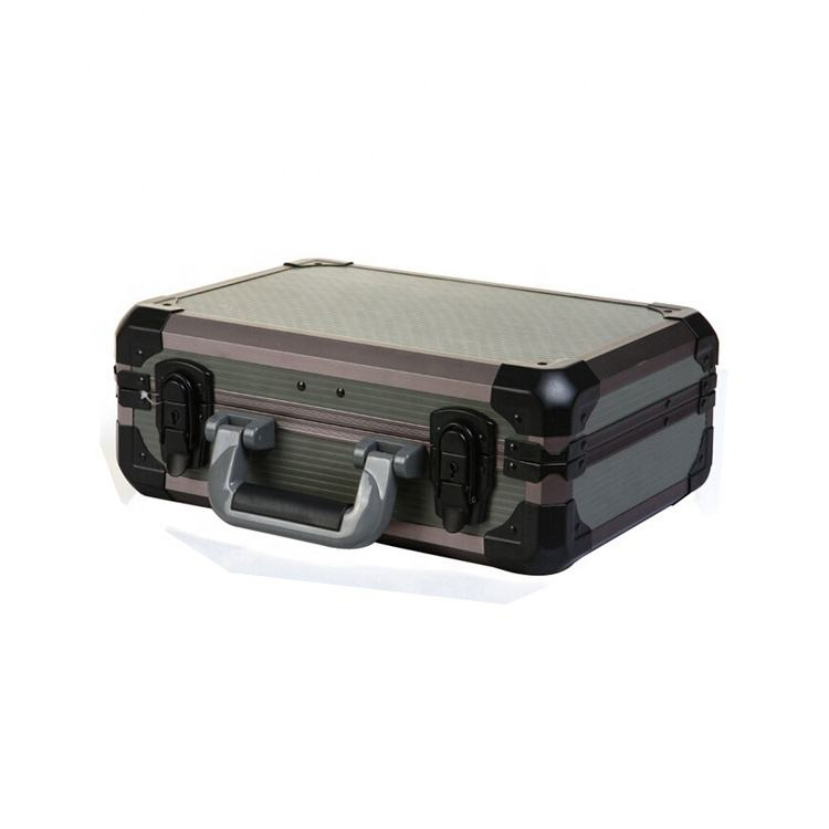 Black small hand hard metal aluminum tool case for instrument