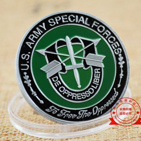 US Army Special Forces Metalen Munt, De Oppresso Liber Commemorative Uitdaging Coin