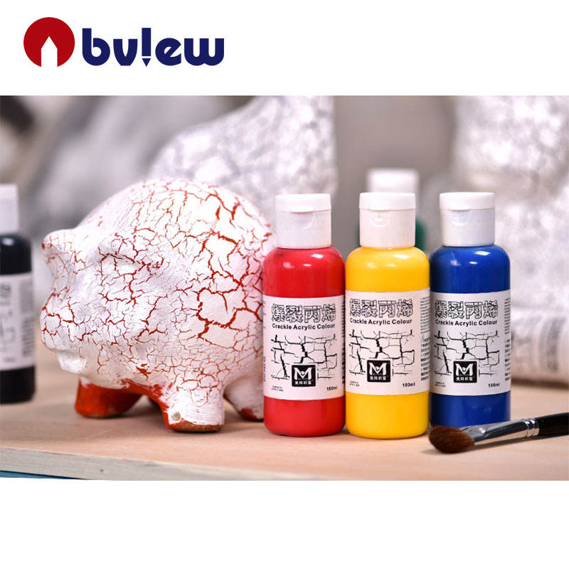 Professional Acrylic Painting Colors 3D Crackle Acrylic Paint For Art