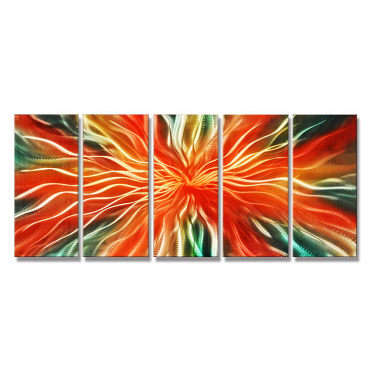 Hot selling abstract large metal sculptures of indian metal wall art