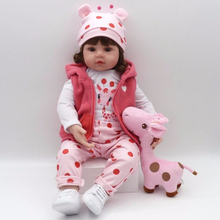 China Factory price New Adorable Lifelike Silicone Baby Girl Doll best seller Baby toy