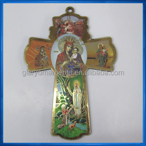 Wall Cross for Hanging,Crucifix with Beautiful Illustrations