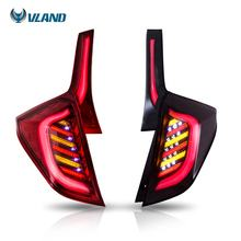 VLAND wholesales 3th Gen LED Modified Taillights 2014-UP  Pillar Rear Lights for Fit/Jazz