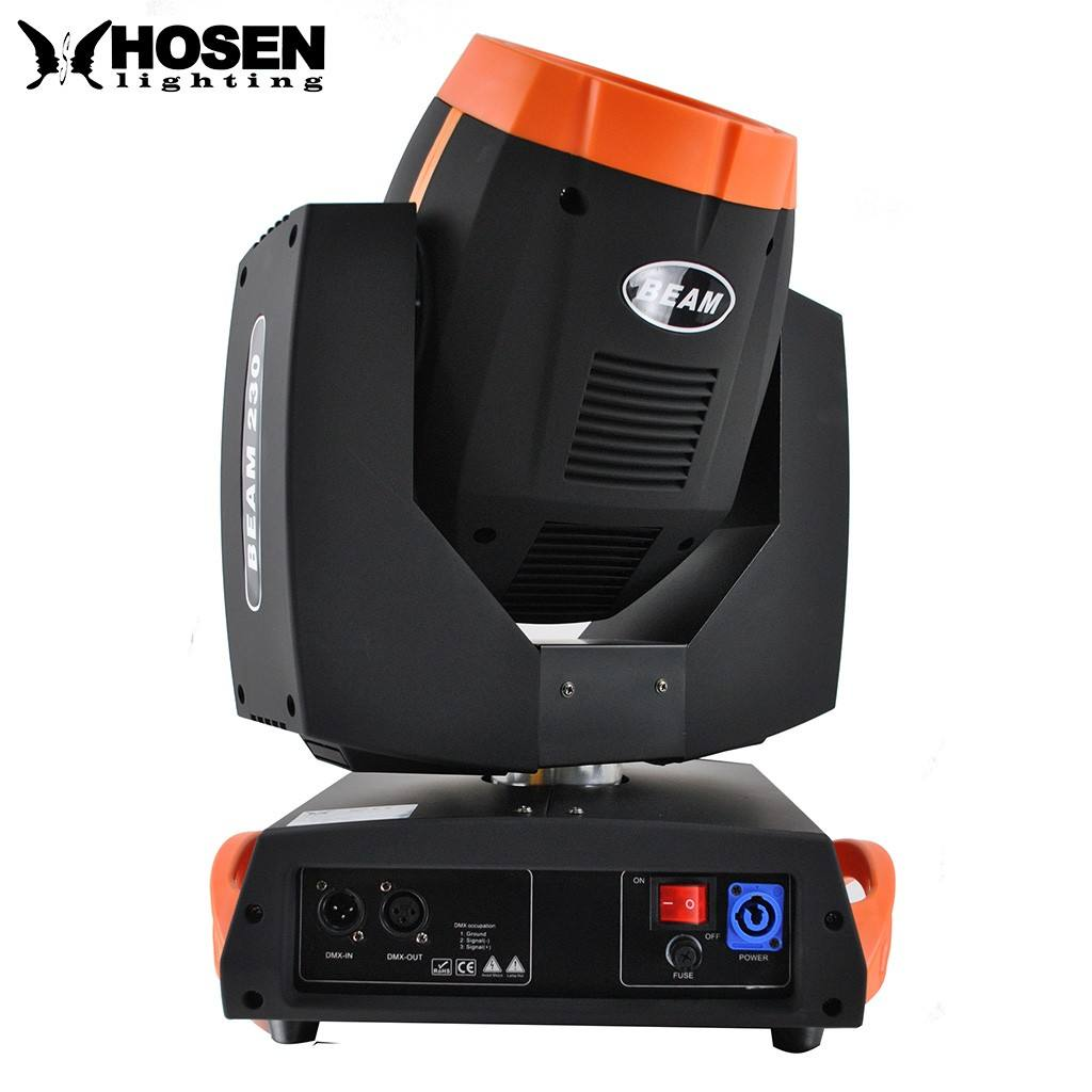 Promotional item ! 230w 7R sharpy moving head beam light with 6 layer lens ,with glass gobo stage light
