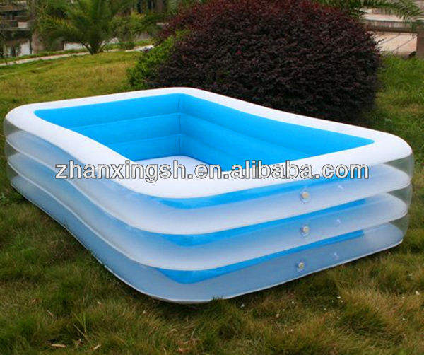 Various Shape Cool Happy Summer PVC Swim Pool Cover, Inflatable Swimming Pool
