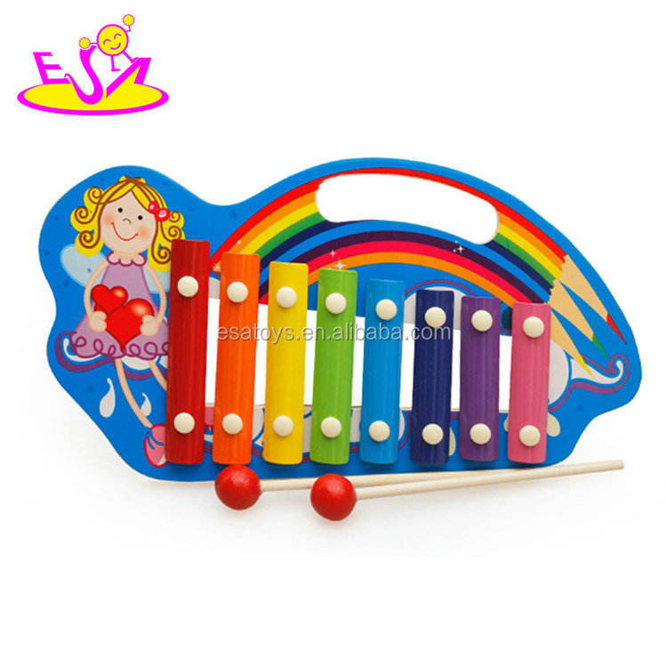 New hottest kids small xylophone wooden musical toys with 8 keyboard W07C064