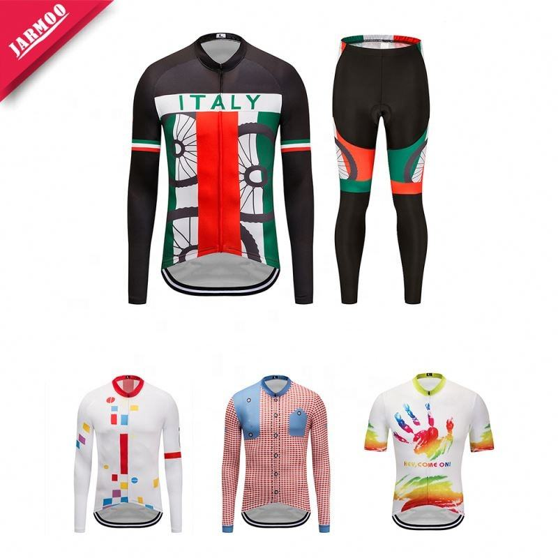 Custom Made Sublimation Printing 100% Polyester Bike Shirts Cycling Jersey Custom