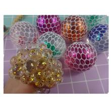hand squeeze ball splat ball toy mesh squeeze ball