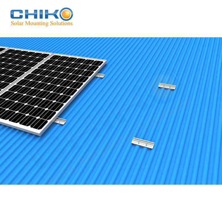 Solar Mounting Manufacturers 4kw Solar System Railfree Solar Metal Roof Solar Mounting