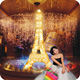 light wedding decoration up crystal eiffel tower centerpieces