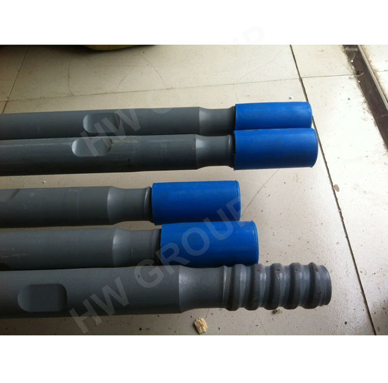 T38 T45 drifter rock drilling extension rod for mining drilling