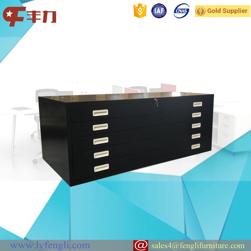 5 Drawer Map File Cabinet /Steel Office Drawings Storage Cabinet
