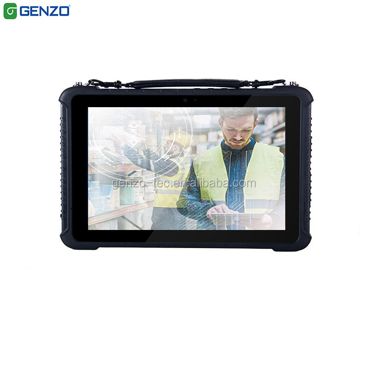 10 Inch Rugged Tablet windows 10 pro Industrial Tablet PC with NFC 1D 2D Barcode Scanner