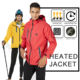 Heavy Work Waterproof and Windproof Ski Heated Jacket Slim Fit Light Weight Fleece Liner Electric Heating Clothing With Battery