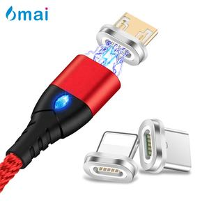 3A Fast Diamond LED 3 in 1 Magnetic Usb Charging Data Otg Cable