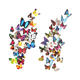 Wholesale vinyl 3D decorative butterfly Wall Stickers for home decoration