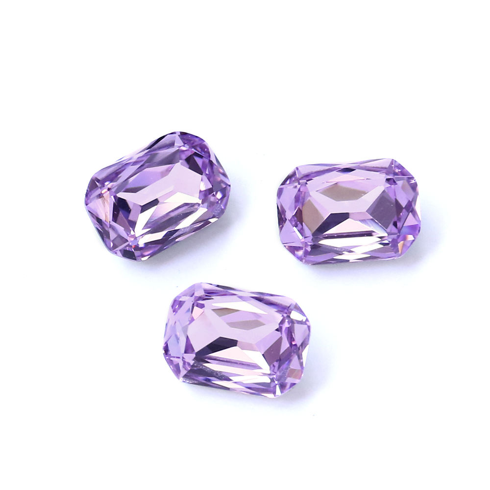 Hot Selling Shining Luxury Violet Octagon Point Back Crystal Beads For Jewelry Silver Foiling Manufacturer FREE SAMPLE