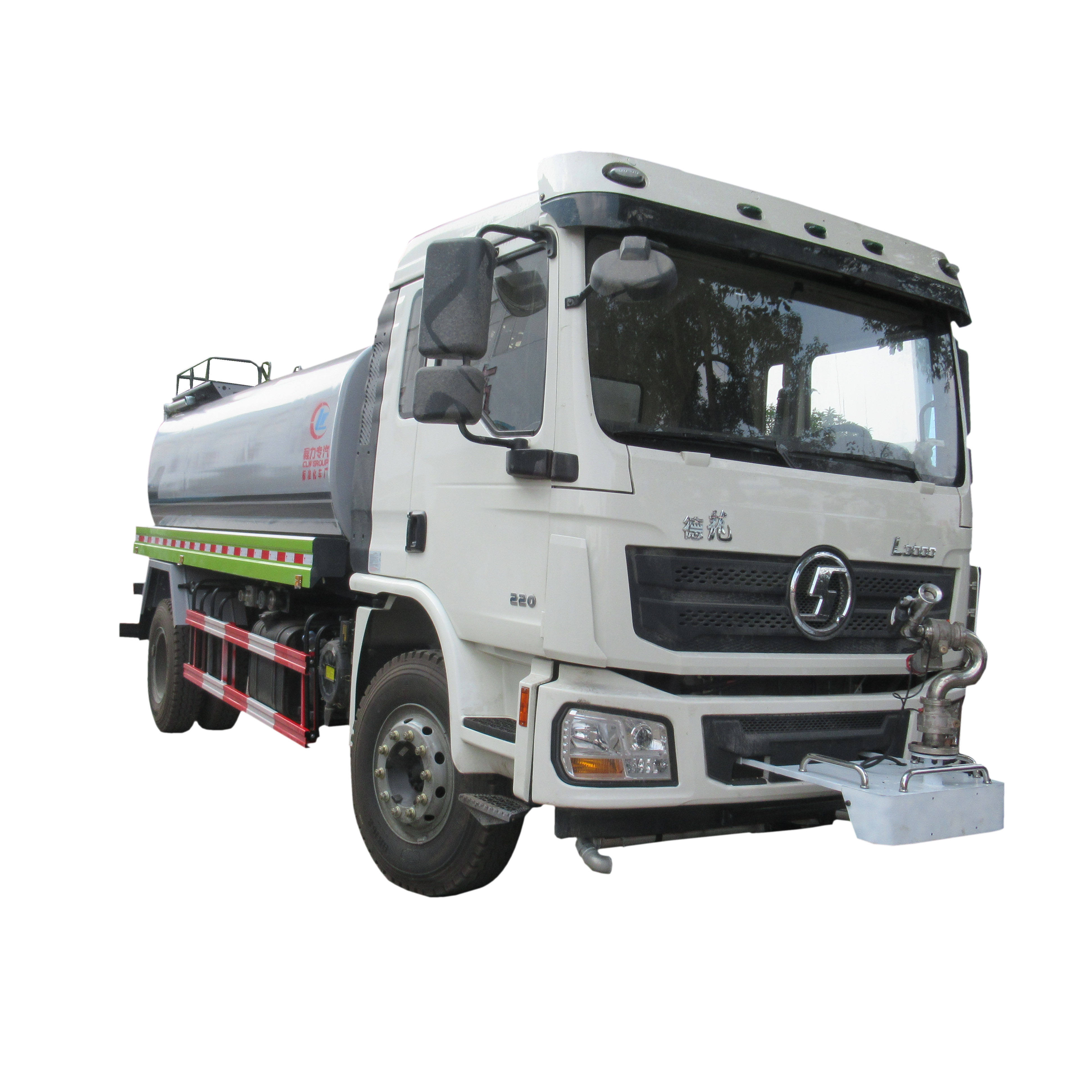 China 4*2 Euro V 12000 liter 15000 litres spray nozzles water cannon shacman water bowser tanker truck