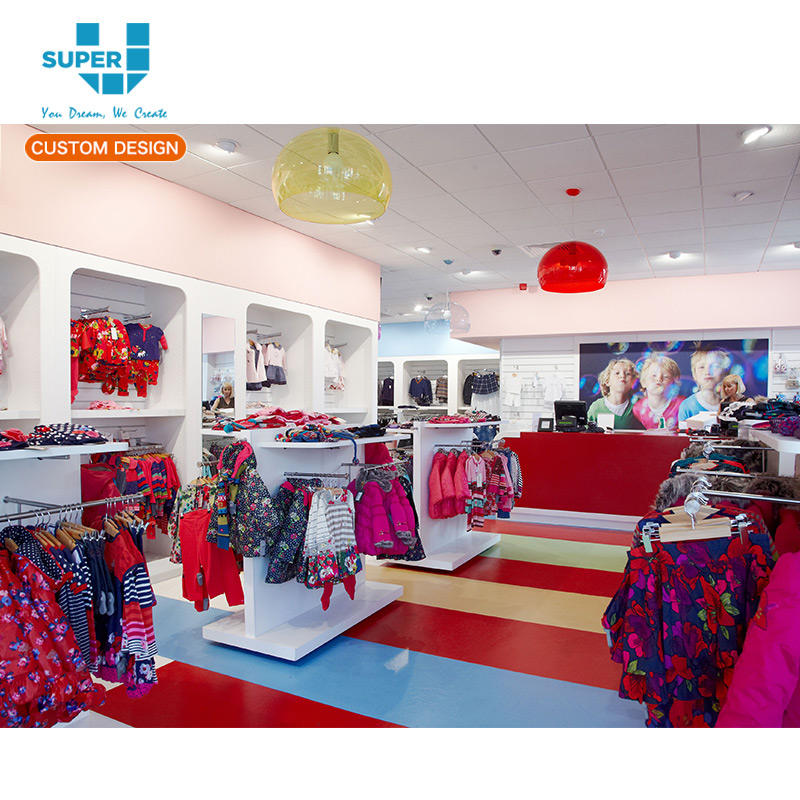 China Wholesale Attractive Baby Store Fixture Children Clothes Display Store Furniture Kid Clothing Shop Fitting