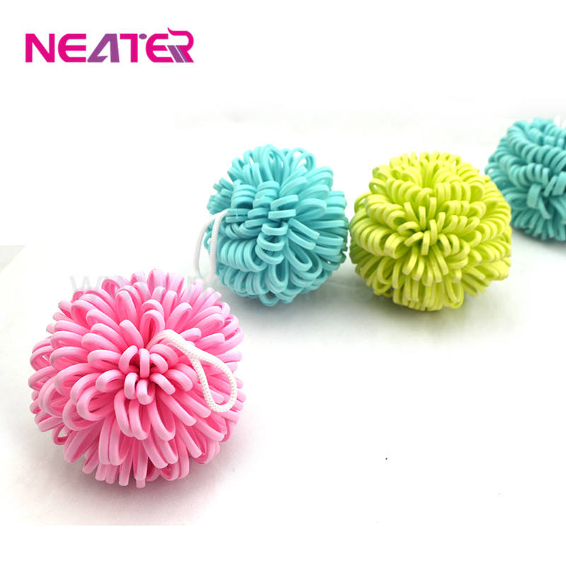2017 hot sale high quality eco friendly colorful flower soft touch baby body wash eva cute bath sponge
