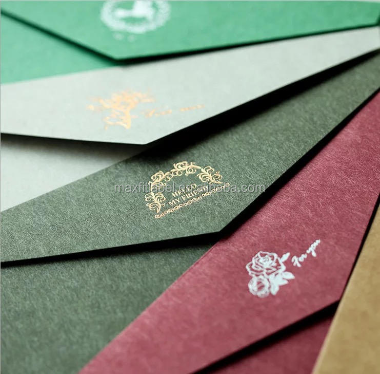 2018 Custom Manufacturer Kraft Paper Envelope for Wedding Invitation Graduation Birthday Card Packaging