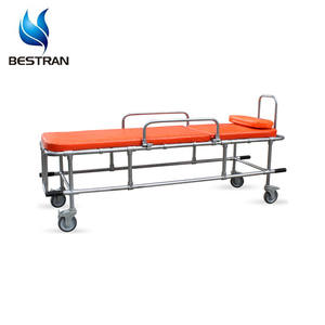 BT-TA010 CE Approved First-aid Type Ambulance Stretcher Non-magnetic Stretcher Cart For MRI