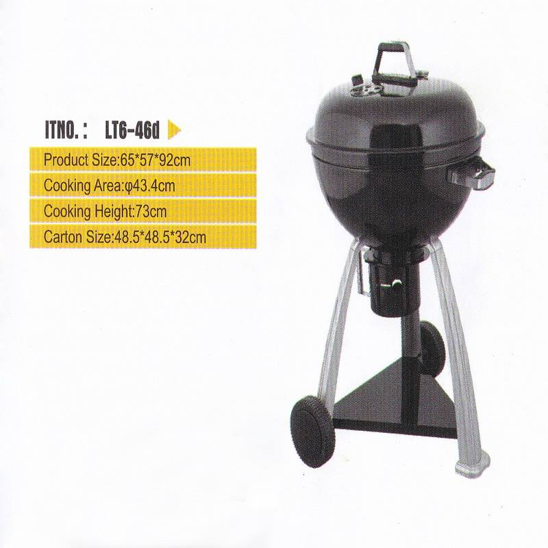 Outdoor Kettle BBQ Grill for Charcoal BBQ with trolley