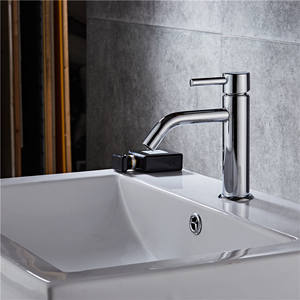 Washbasin single hole bathroom cabinet basin hot and cold faucet lead-free for home style bathroom