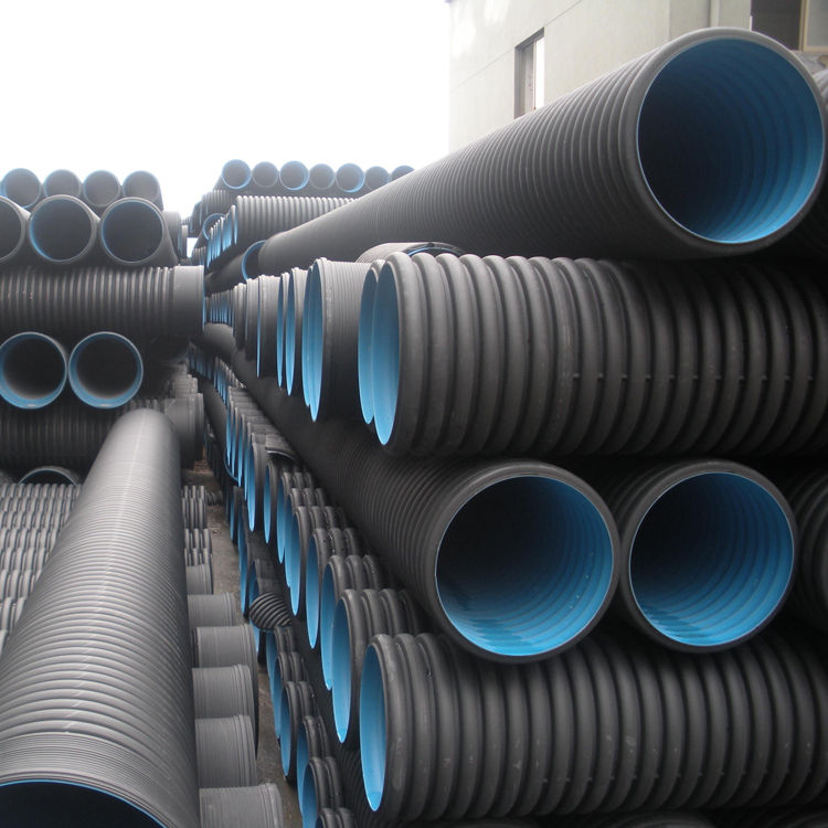 Competitive price HDPE corrugated double wall pipe for water and seweage drain supply with high quality