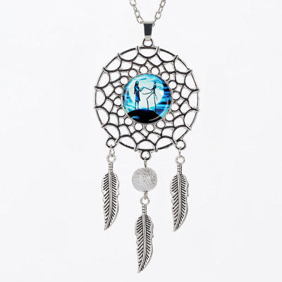 2018 New Dream Catcher Feather kristal Kalung Malam Menangis Halloween Perhiasan Permata Liontin kalung hip hop perhiasan