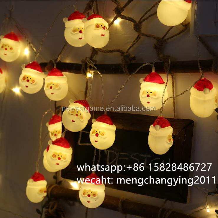 DHL OR EMS free shipping Christmas led snowman battery light Christmas tree Santa Claus decorative light string 1.5m 10 leds