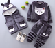 top quality new arrival baby kid winter clothing sets with fleece inside for with fox design