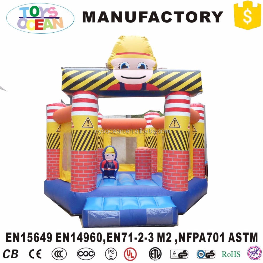 Customized PVC Pentagon Playground Inflatable Module bounce Castle Combo Jumper With Lovely Boy