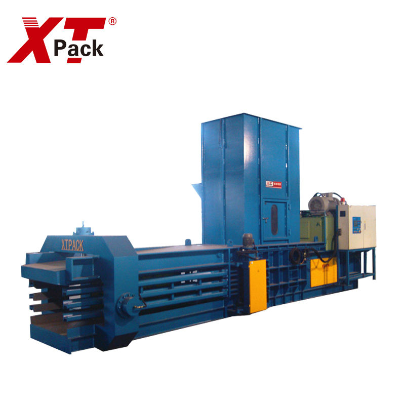 For Manufacturing Plant Sawdust Baler Machine Garbage Wood Sawdust Baling Machine Horizontal Baler Machine Garbage Baling Machine