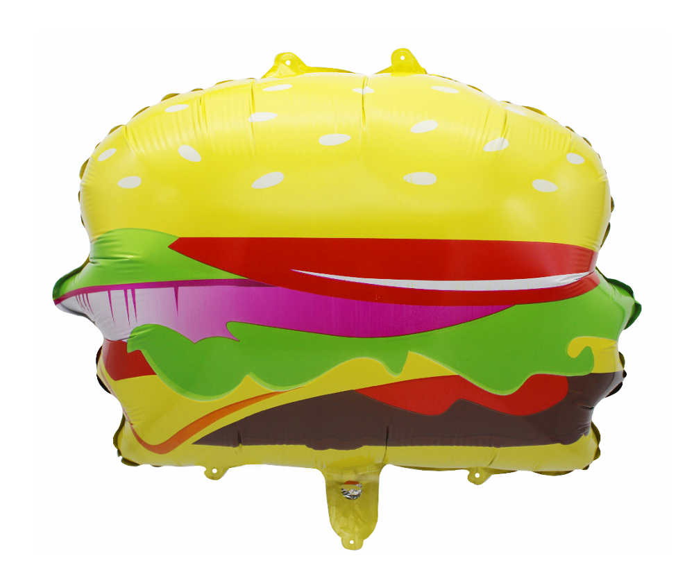 TF Hamburger form folie ballons lebensmittel <span class=keywords><strong>thema</strong></span> party dekoration jumbo flache ballon helium kinder favor fotografische riesige größe ballons