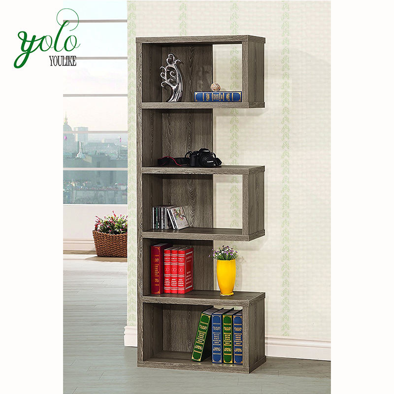 Wholesale Weathered Grey Coaster Home Furnishings Bookcase,Wooden Bookshelf